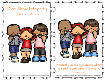 """Emergent Easy Reader Book: """"I Can Show Integrity"""""""