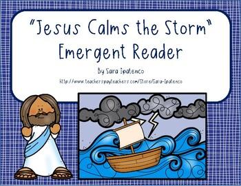 photograph regarding Jesus Calms the Storm Printable named Emergent Straightforward Reader Ebook: \