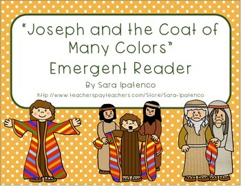 """Emergent Easy Reader Book: """"Joseph and the Coat of Many Colors"""""""