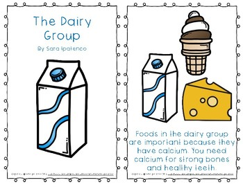"""Emergent Easy Reader Book: Nutrition: """"The Dairy Group"""""""