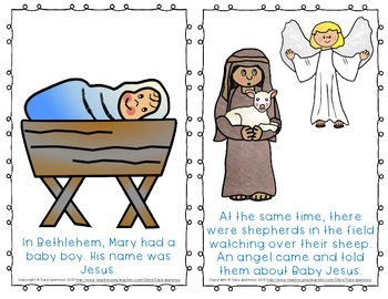 """Emergent Easy Reader Book: """"The First Christmas"""""""