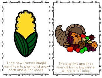 """Emergent Easy Reader Book: """"The First Thanksgiving"""""""
