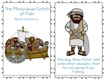"""Emergent Easy Reader Book: """"The Miraculous Catch of Fish"""""""