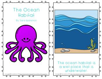 "Emergent Easy Reader Book: ""The Ocean Habitat"""