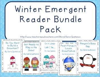 Emergent Easy Reader Book Bundle: Winter Theme