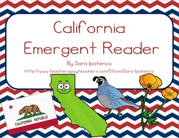 "Emergent Easy Reader Book: ""California"""