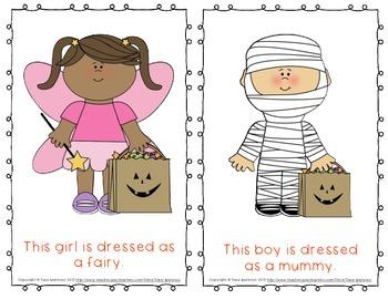 "Emergent Easy Reader Book: ""Halloween Costumes"""