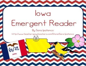 """Emergent Easy Reader Book: """"Iowa"""""""