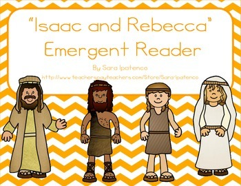 """Emergent Easy Reader Book: """"Isaac and Rebecca"""""""