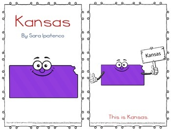 "Emergent Easy Reader Book: ""Kansas"""