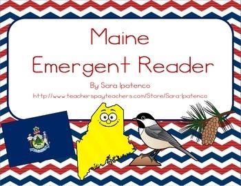 """Emergent Easy Reader Book: """"Maine"""""""