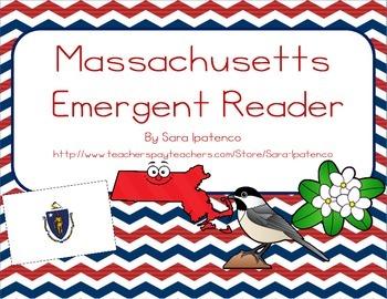"""Emergent Easy Reader Book: """"Massachusetts"""""""