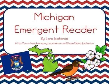 """Emergent Easy Reader Book: """"Michigan"""""""