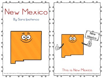 """Emergent Easy Reader Book: """"New Mexico"""""""