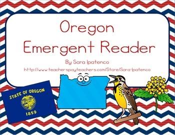 """Emergent Easy Reader Book: """"Oregon"""""""