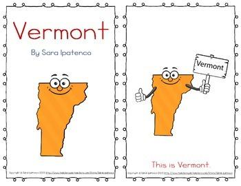 """Emergent Easy Reader Book: """"Vermont"""""""