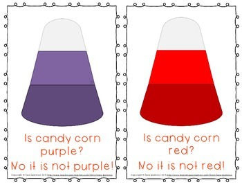 """Emergent Easy Reader Book: """"What Color is Candy Corn?"""""""