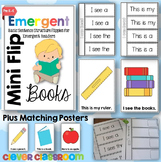 Emergent Flip Books and Posters using Basic Sentence Structures