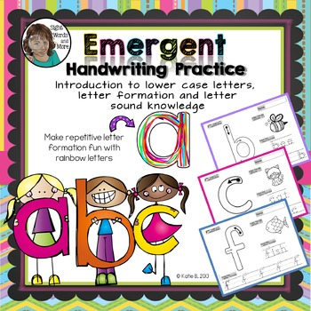 Handwriting Practice for Beginning Learners