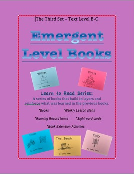 Emergent Level Books and Lesson Plans - Guided Reading Set B-C