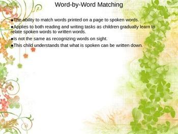 Emergent Literacy PowerPoint