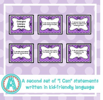 "Emergent Literacy: Reading ""I Can"" Statements for Pre-K and Preschool"