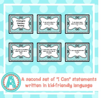 """Emergent Literacy: Writing """"I Can"""" Statements for Pre-K and Preschool"""