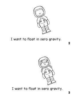 Emergent Non Fiction Reader I Want to be an Astronaut!  Illustrate me, please!