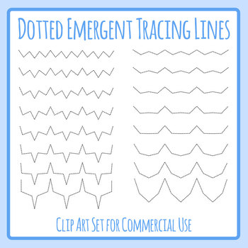 Emergent Pattern Lines for Tracing / Pencil Control Clip Art Set Commercial Use