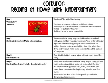 Emergent Read Aloud Home Support Pack: Corduroy
