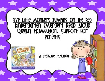 Emergent Read Aloud Home Support Pack: Five Little Monkeys Jumping on the Bed