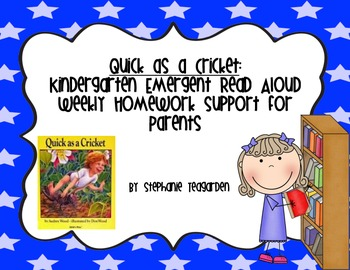 Emergent Read Aloud Home Support Pack: Quick as a Cricket