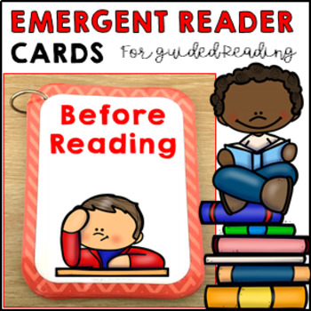 18 Emergent Reader Cards literacy comprehension questions for guided reading