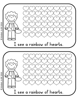 "Emergent Reader: ""I See Hearts"""