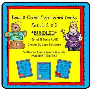 Emergent Readers: Emergent Reader Sets 1, 2, & 3 BUNDLED!