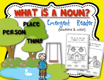 Noun Emergent Reader:  Kindergarten and First Grade