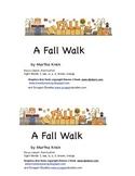 Emergent Reader: A Fall Walk