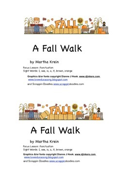 Emergent Reader: A Fall Walk