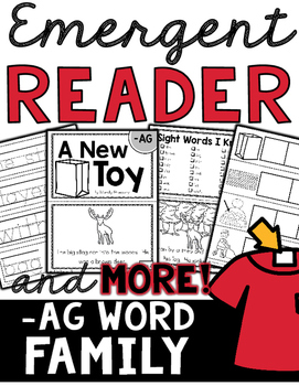 Emergent Reader (-AG Word Family) and MORE!