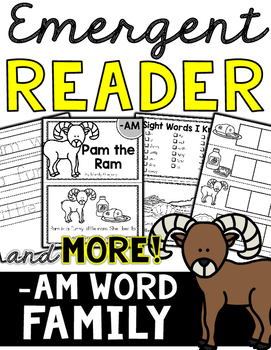 Emergent Reader (-AM Word Family) and MORE!