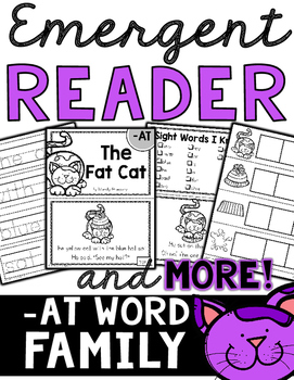 Emergent Reader (-AT Word Family) and MORE!