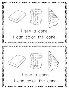 Emergent Reader:  All About the Cone