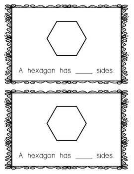 Emergent Reader:  All About the Hexagon