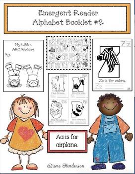 Emergent Reader Alphabet Booklet #2