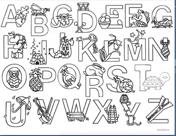 Emergent Reader Alphabet Booklet