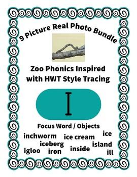 Emergent Reader Alphabet I ~ Real Pictures ~ Letter I ~ ZooPhonics Inspired HWT