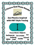 Emergent Reader Alphabet I ~ Real Pictures ~ Letter I ~ Zo