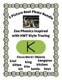 Emergent Reader Alphabet K ~ Real Pictures ~ Letter K ~ ZooPhonics Inspired HWT