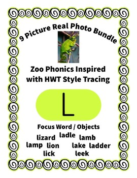 Emergent Reader Alphabet L ~ Real Pictures ~ Letter L ~ ZooPhonics Inspired HWT
