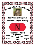 Emergent Reader Alphabet N ~ Real Pictures ~ Letter N ~ ZooPhonics Inspired HWT